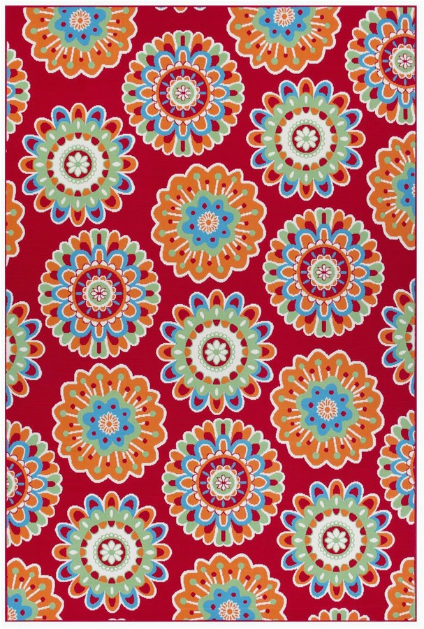 Sonoma Goods for Life area Rugs Floral Medallion Indoor Outdoor area and Throw Rug