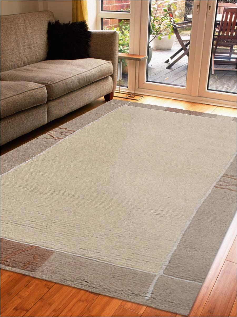 6 by 7 area Rug Rugsotic Carpets Hand Knotted Tibbati Wool 6 7 X 9 10 area Rug Contemporary Beige T