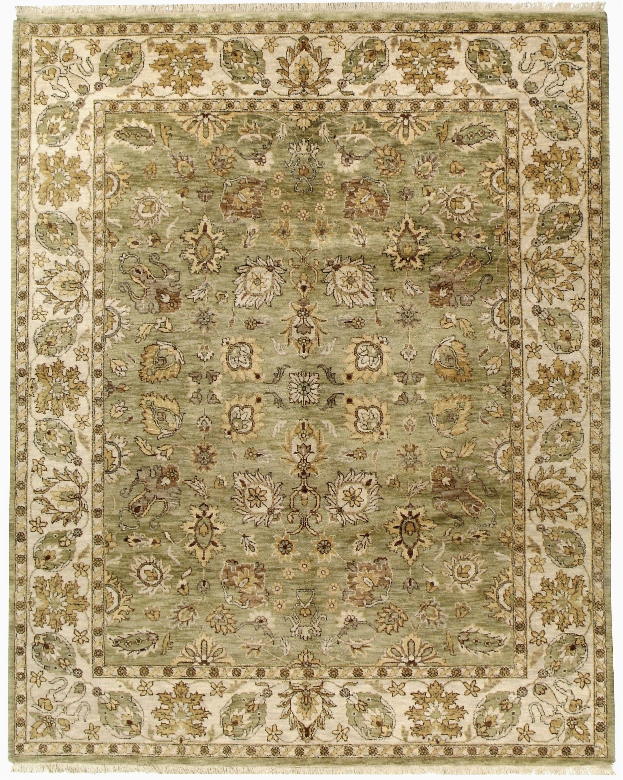 Area Rugs Green and Cream Gdpt Kashan Lt Green Cream Gdpt Kashan Lt Green Cream