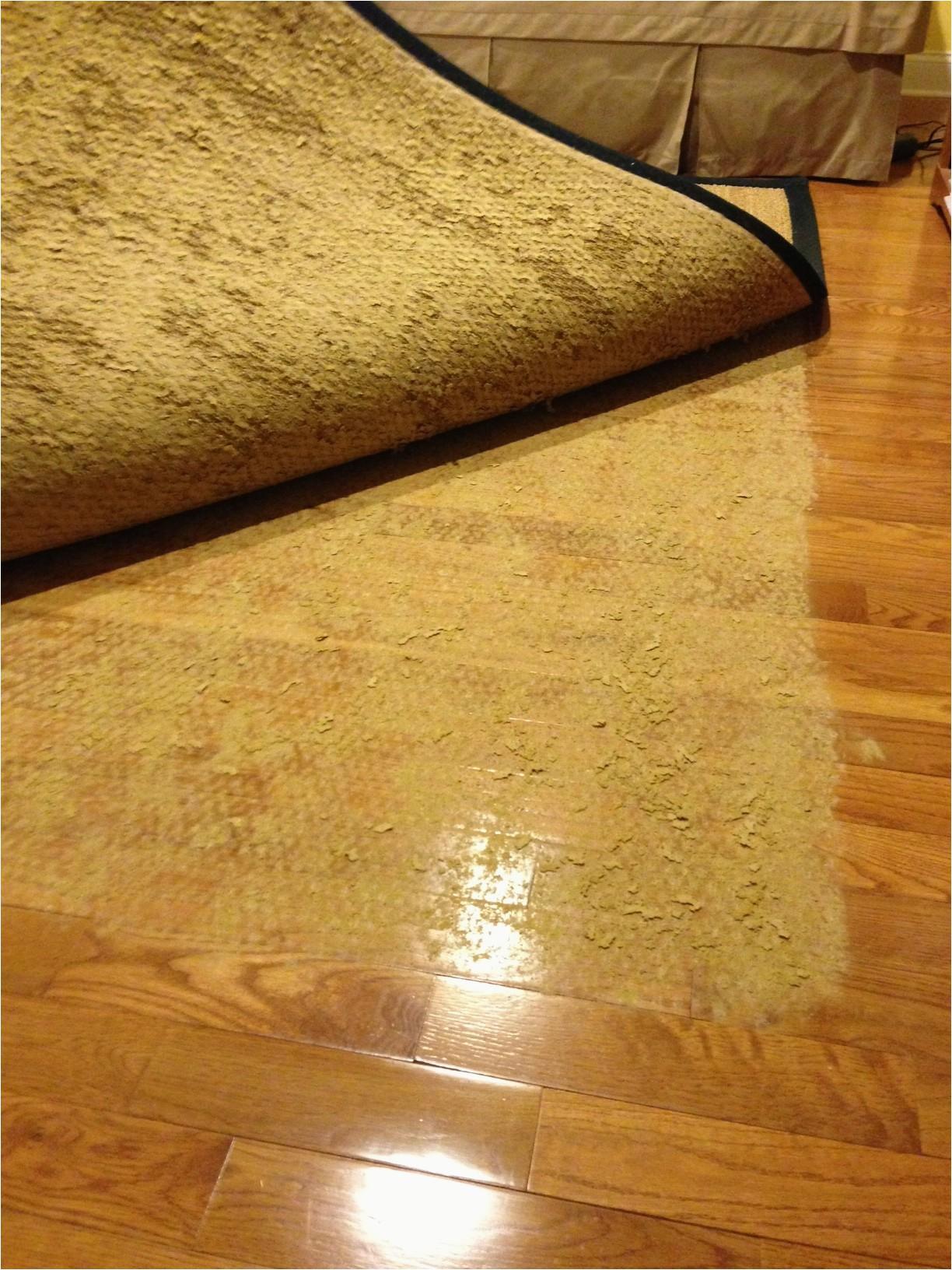 Latex Backed area Rugs On Hardwood Floors Latex Rug Backing Stuck to Floor