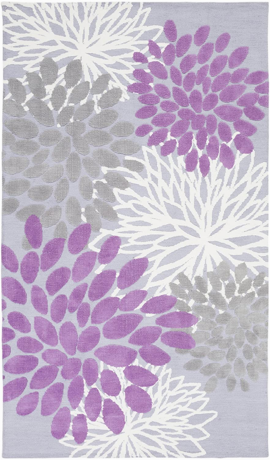 Lavender and Gray area Rug Sanora Lavender and Gray Transitional area Rug 5 X 8