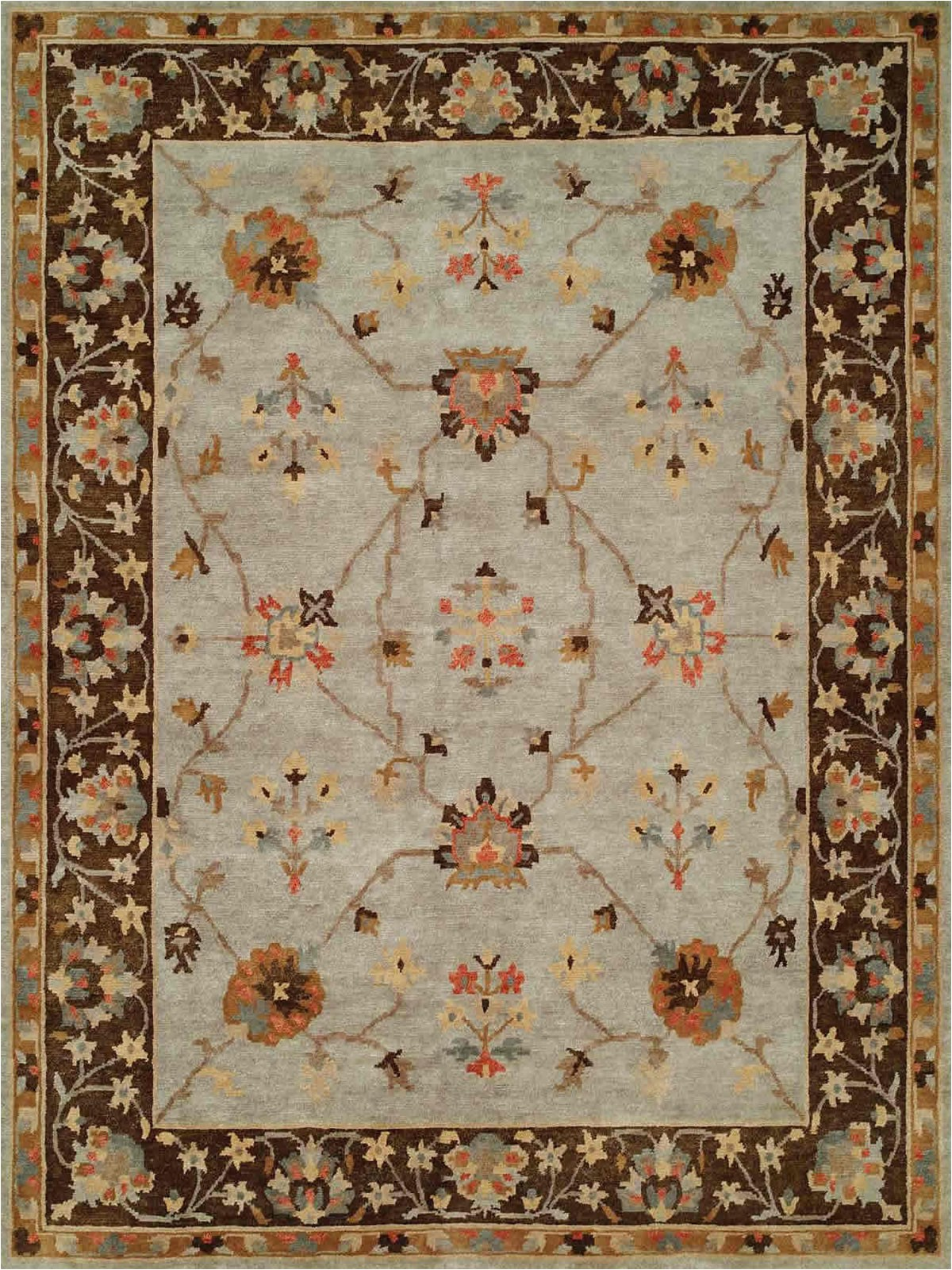 Light Blue and Brown area Rugs Regal south Dakota