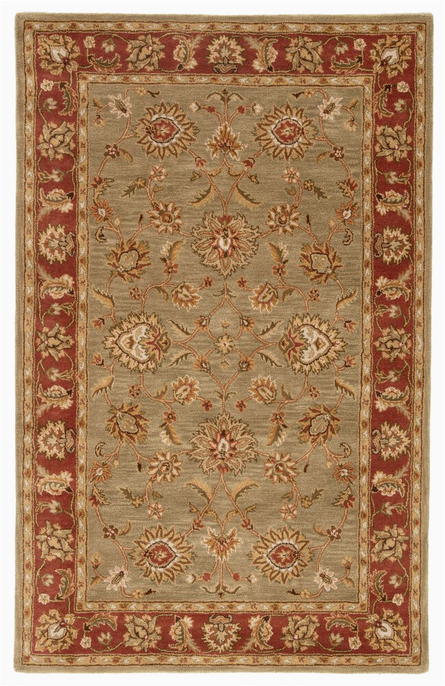 Red Brown and Tan area Rugs Anthea Handmade Floral Tan Red area Rug 9 X12