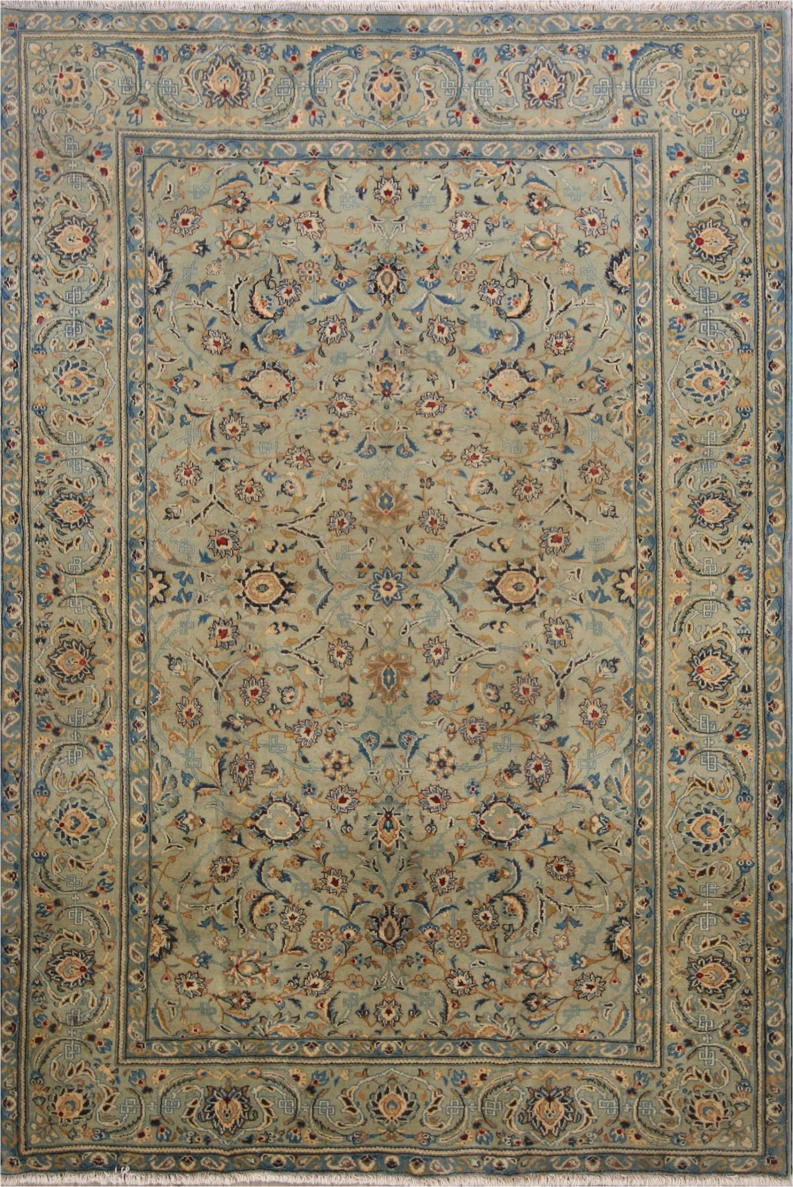 Sage Green area Rug 5x7 All Over Floral Sage Green Kashan Persian area Rug 5x7