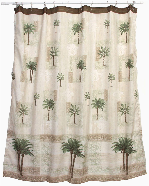 Bacova Citrus Palm Bath Rug Bacova Guild Citrus Palm Fabric Shower Curtain Beige Green