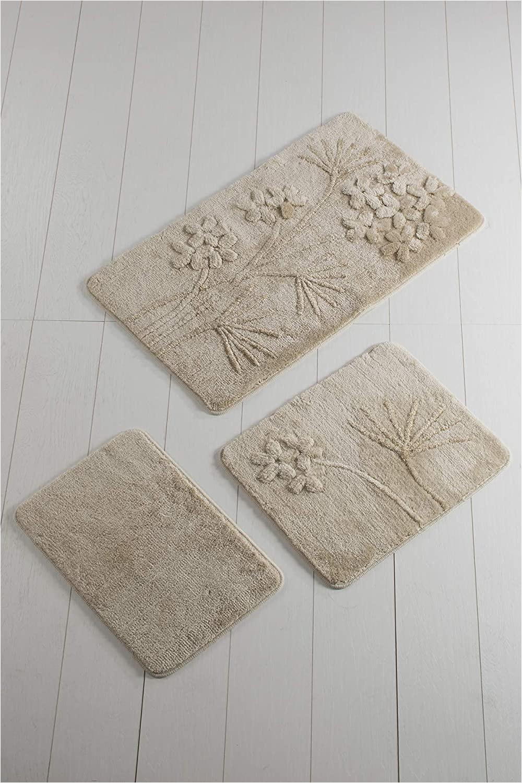 Bath Mat Rug Set Amazon orchid Beige Pink Bathroom Rugs Set 3 Pieces 24