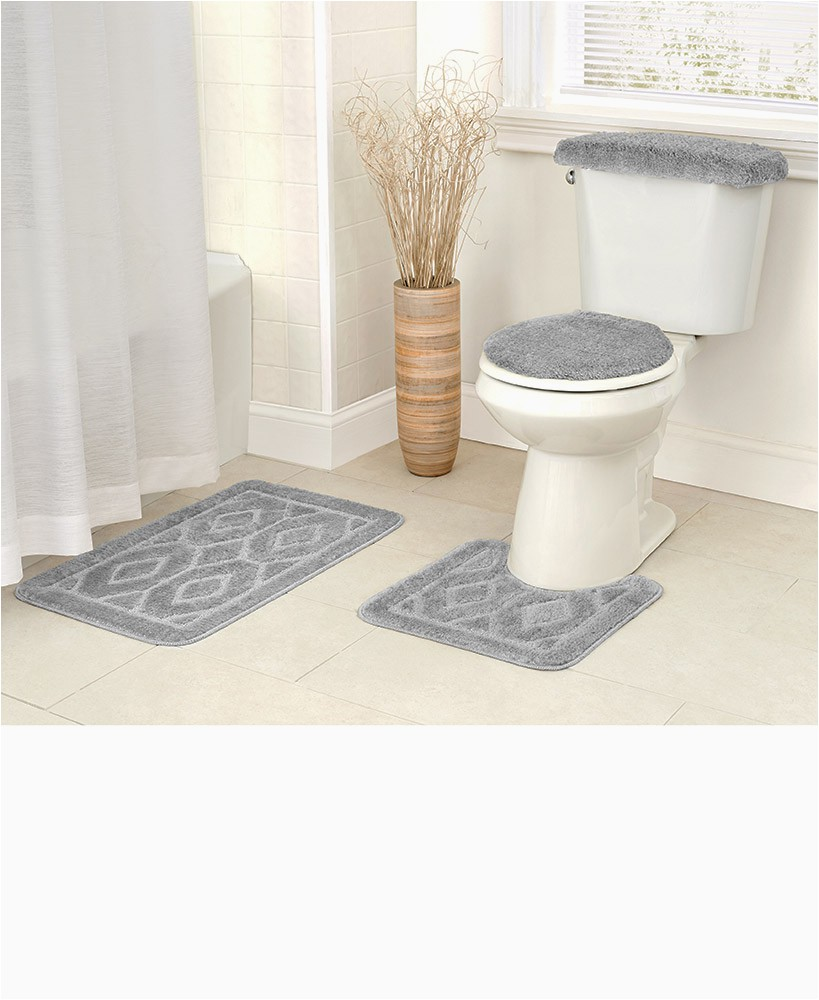Bath Rug Sets On Sale 4 Pc Diamond Bath Rug Sets