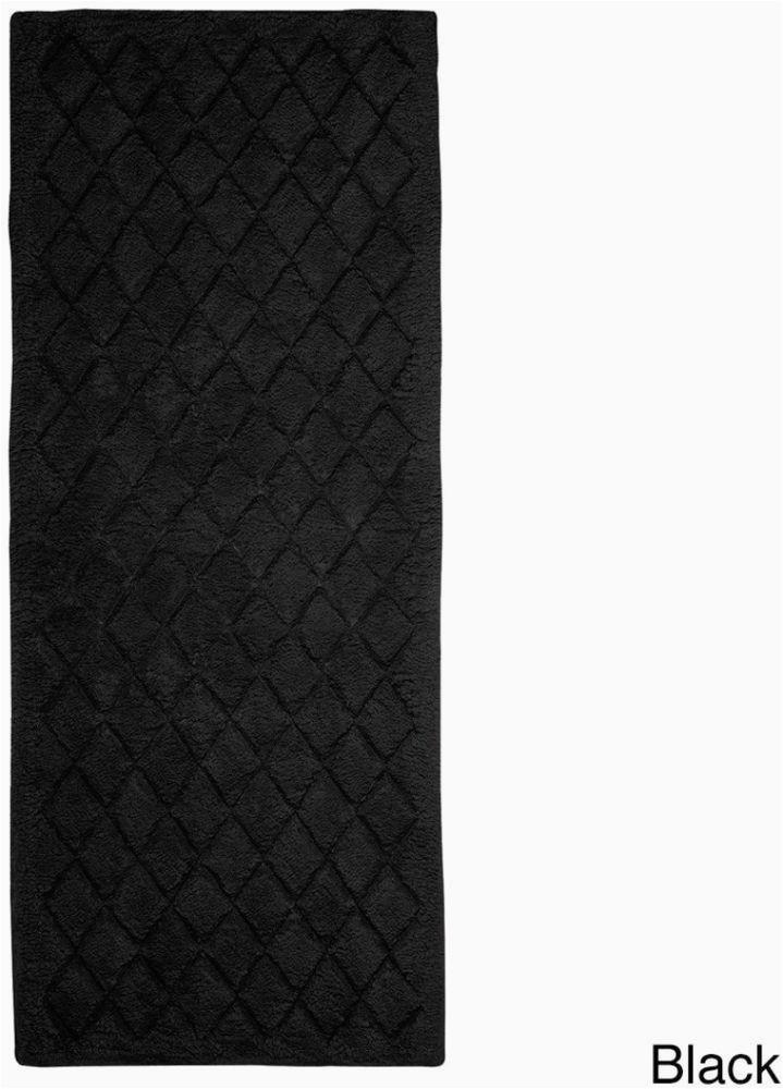Black Cotton Bath Rug Sleek and Elegant Extra Plush Black Cotton Bath Rug Non Skid