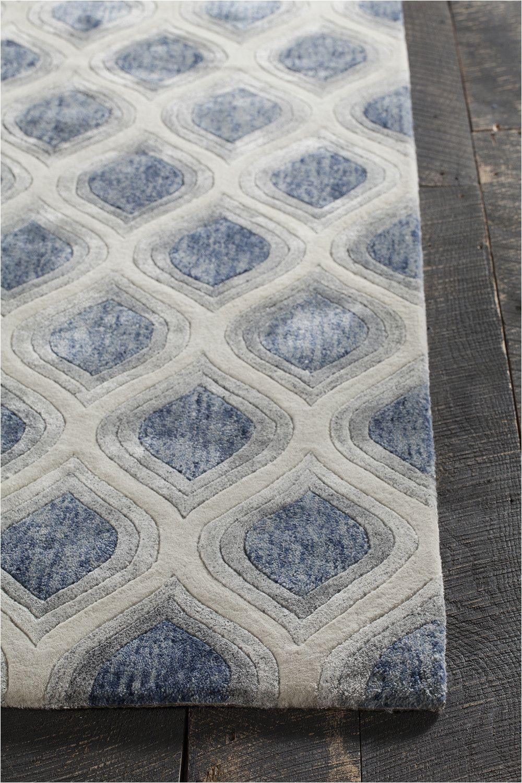 Blue Gray Bath Rug Pin On Carpet