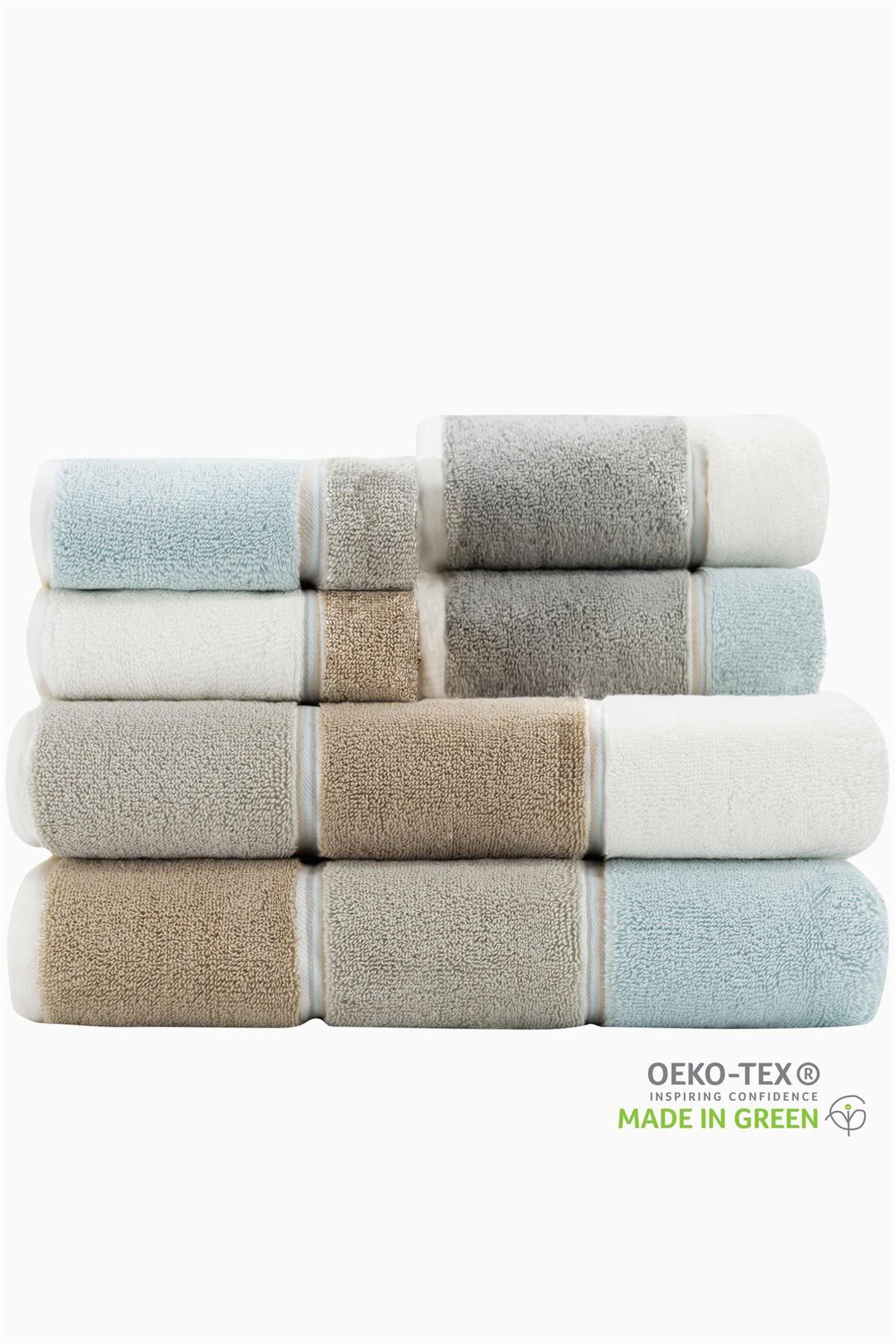 Caro Home Bath Rugs Maya 6 Piece towel Set Caro S Best Seller Horizontal Striped towels Maya Linen