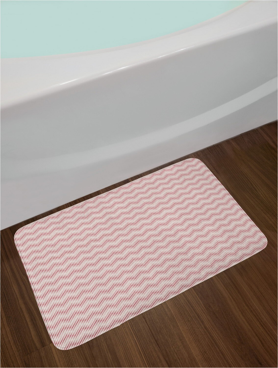 Chenille Lines Bath Rug Collection Vertical Lines From Halftone Spots Bath Rug