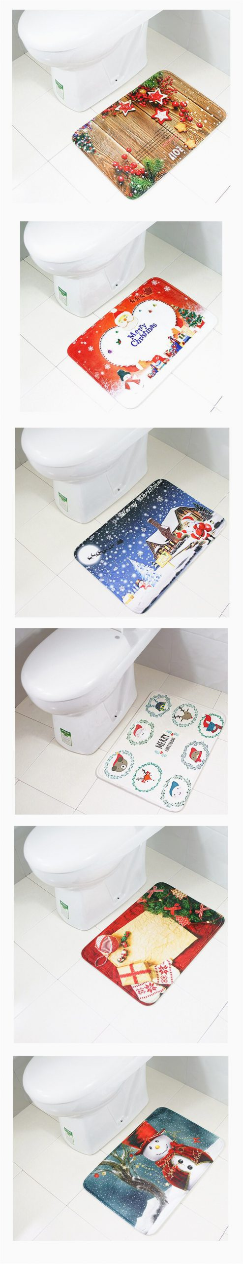 Christmas Bath Rugs Accessories Christmas Decorating Carpet Bath Rug toilet Mat Antiskid Doormat toilet Accessories Decoration Home Rugs for Kitchen La Alfombra