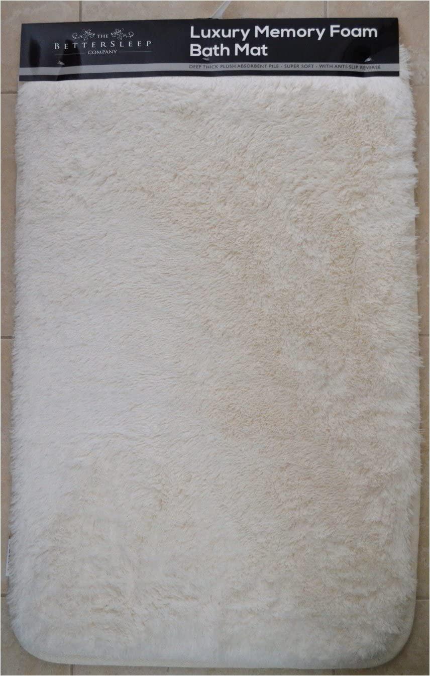 Cloud Step Memory Foam Bath Rug the Bettersleep Pany Memory Foam Bath Mat Size Deep Plush Absorbent Pile Super soft with Anti Slip Reverse White