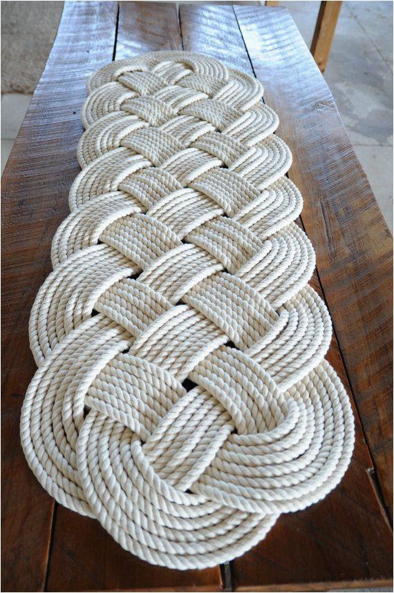 Cotton Bath Rugs Made In Usa Nautical Rope Rug Bath Mat F White Cotton