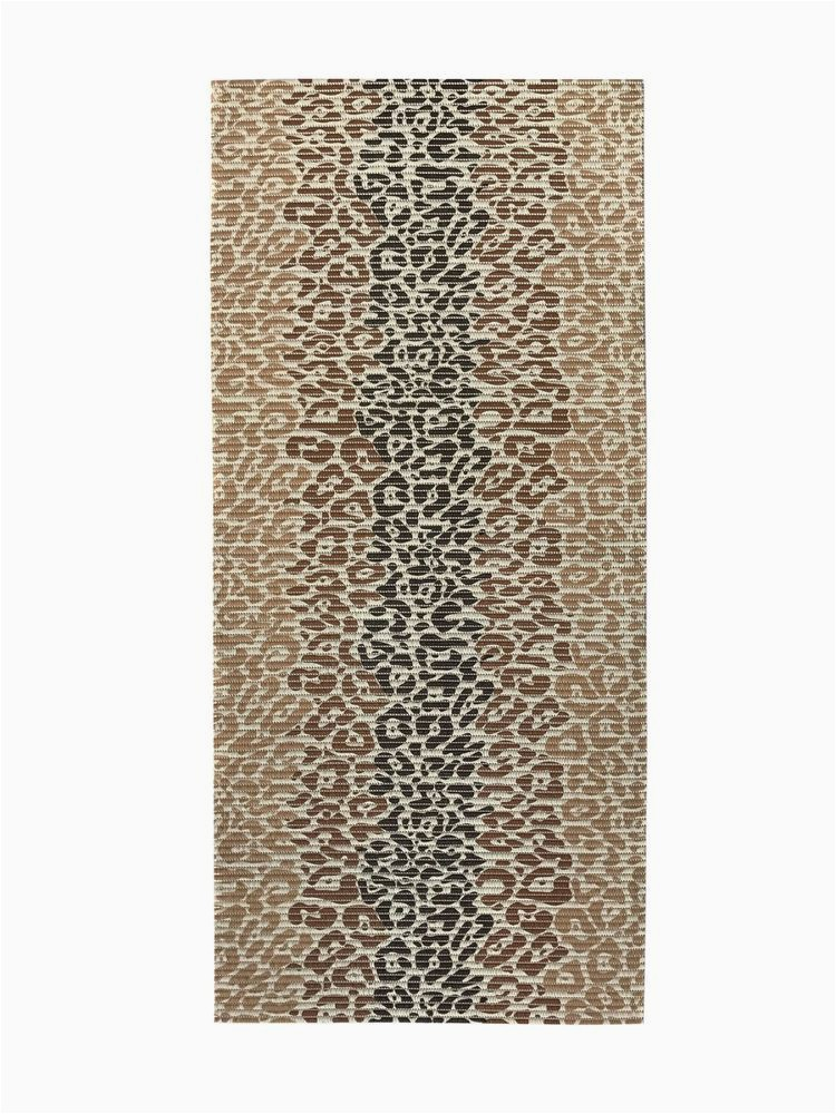 Custom Bath Rug Sizes Custom Size Brown Color Non Slip Memory Foam Rubber Leopard