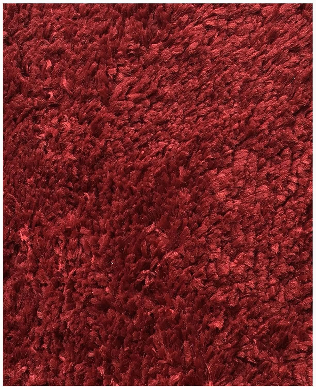 Cut to Fit Bath Rugs Mohawk Home Cut to Fit Royale Velvet Plush Bath Carpet Claret 5 by 6 Feet