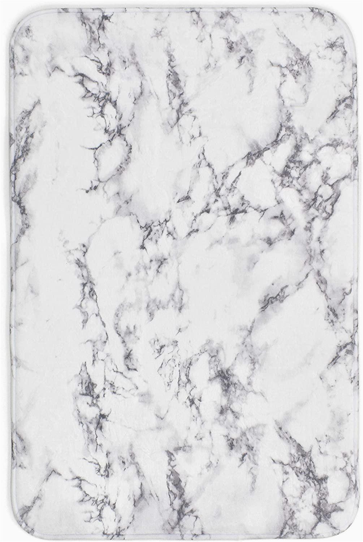 Granite Contemporary Bath Rug Ihidirect White Grey Marble Granite Effect Anti Slip Bath Mat Rug or Pedestal Bath Mat