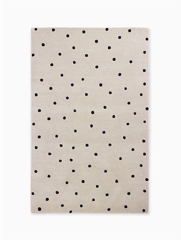Kate Spade Deco Dot Bath Rug Kate Spade Random Dot Rug Black On White