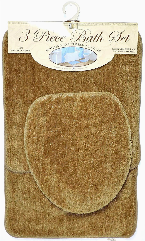 Light Brown Bath Rugs Amazon Homestyle 3 Piece Bath Rug Set Light Brown
