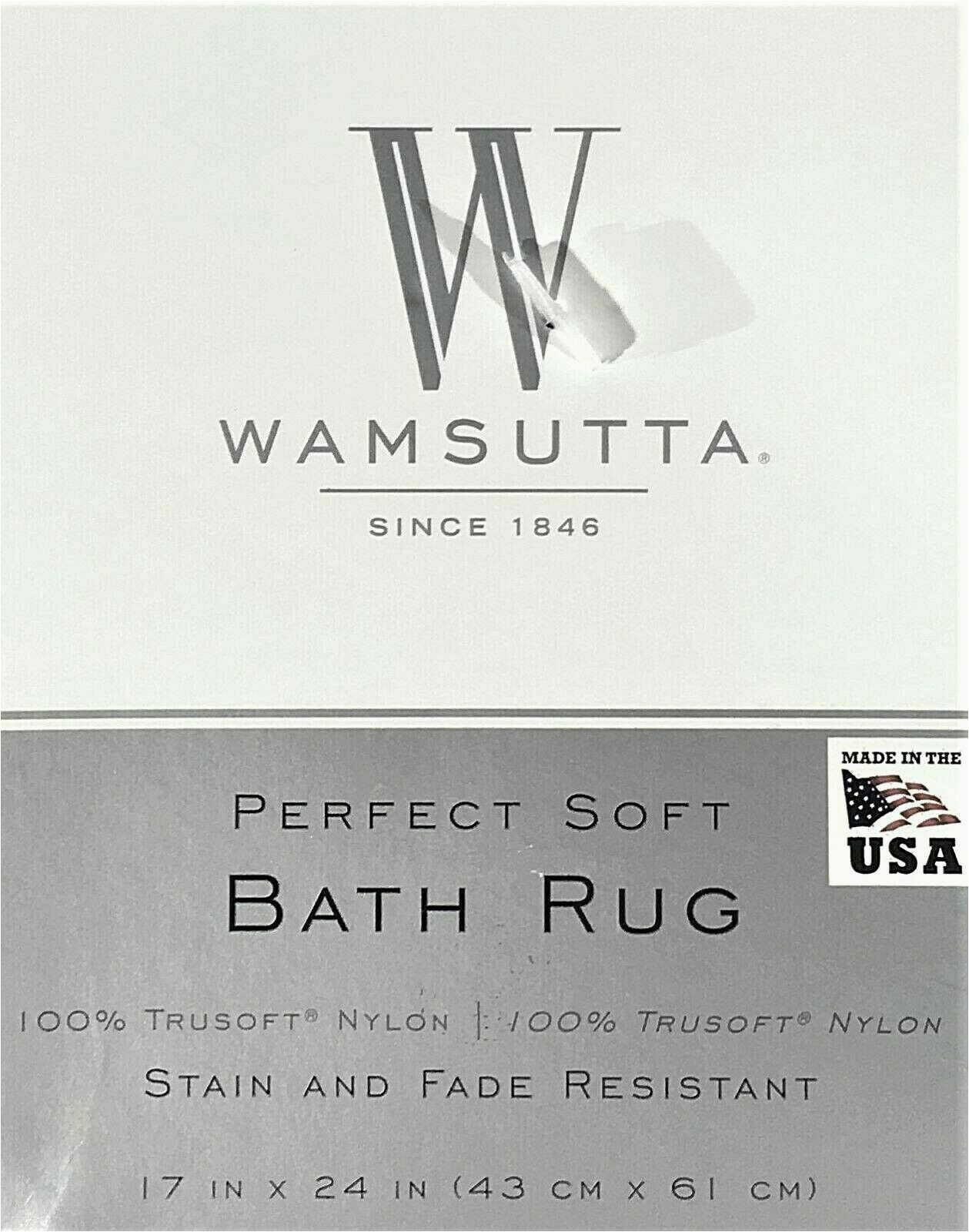 """Noble Excellence Bath Rugs New Wamsutta Luxury Perfect soft Bath Rug 17"""" X 24"""" In Deep Red"""