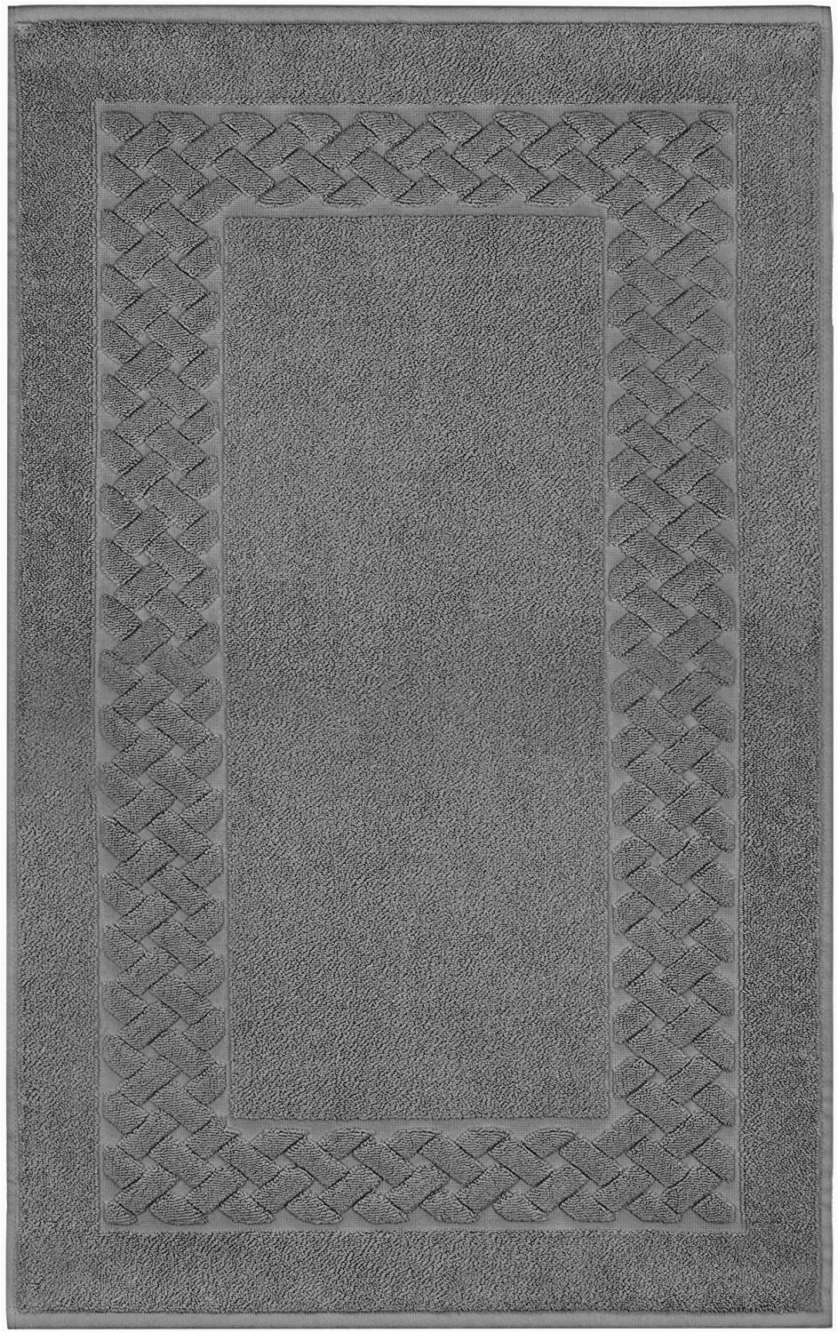 Terry Cloth Bath Rugs Lashuma Bath Mat Bath Mat Shower Mat Cotton Terry towel Royal 50 X 80 Cm Cotton Slate Grey