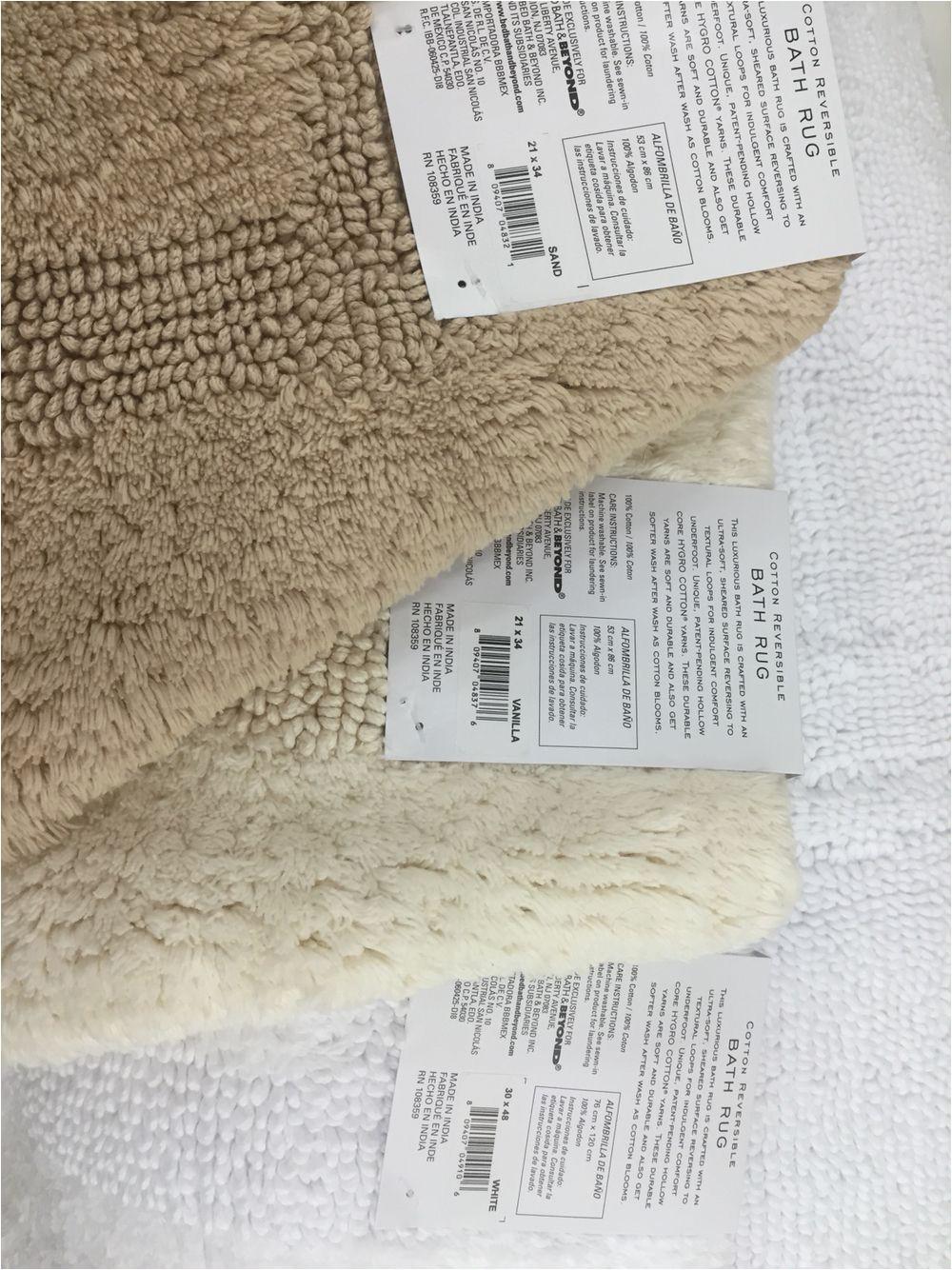 Wamsutta Reversible Cotton Bath Rugs Wamsutta Reversible 21 Inch X 34 Inch Bath Rug In Vanilla