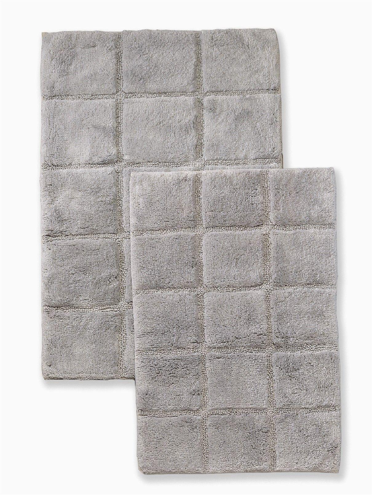 Wayfair Bath towels and Rugs 2 Piece Cotton Checkers Bathrug Set