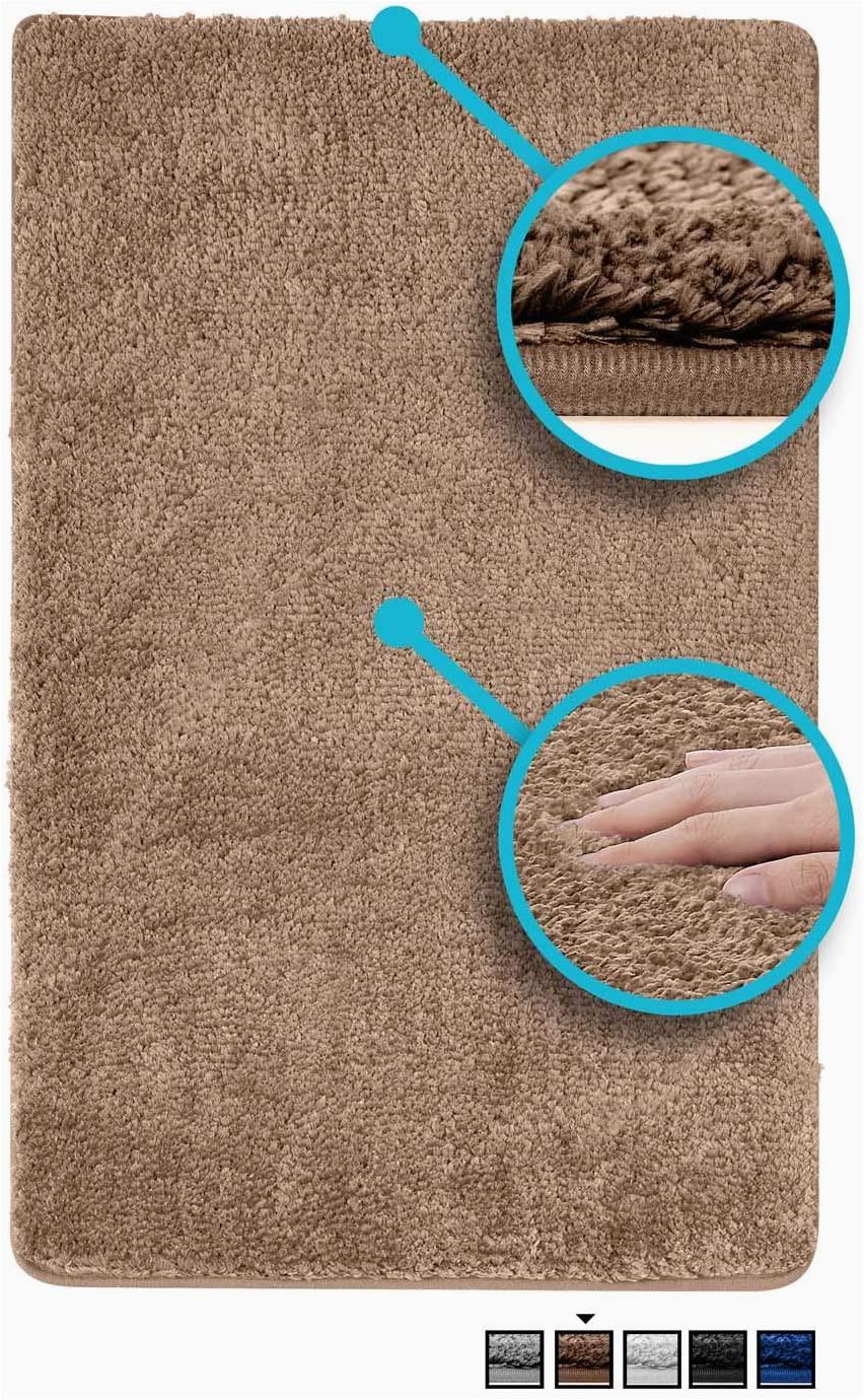 36 Inch Square Bath Rug Luxe Rug Brown Plush Bathroom Rugs Bath Shower Mat 20 X 32 Inches W Non Slip Microfiber Super Absorbent Rug Alfombras Para Baños 1 Brown