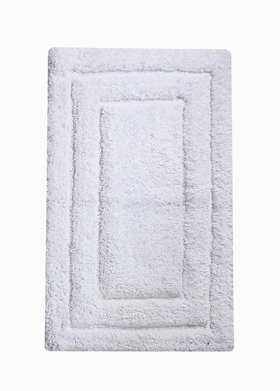 "Bathroom Rug 27 X 45 Chardin Home Classic Bath Rug 27""x45"" White 100"
