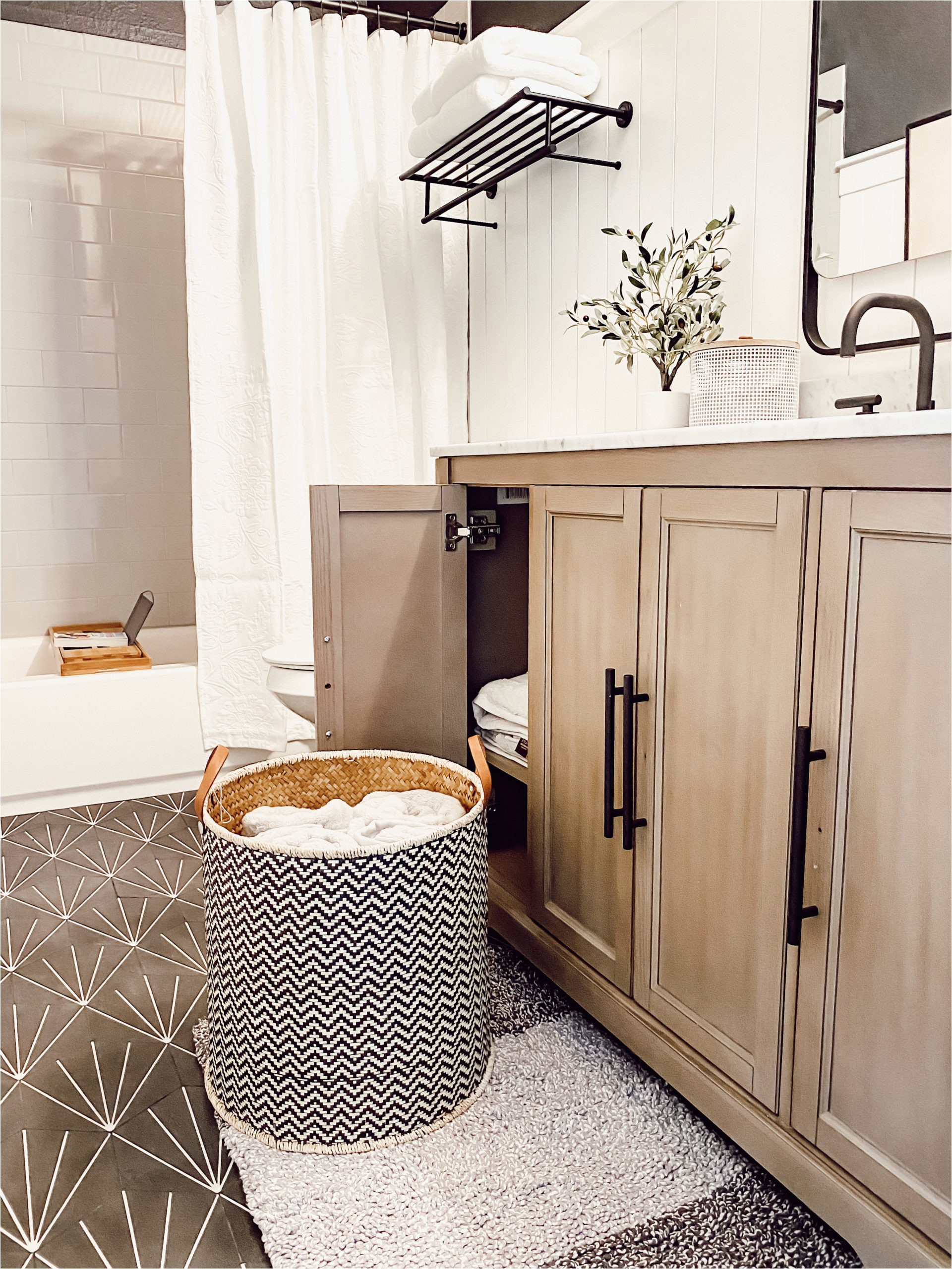 Bathroom Rugs Home Depot Bathroom Update with the Home Depot Ourfauxfarmhouse