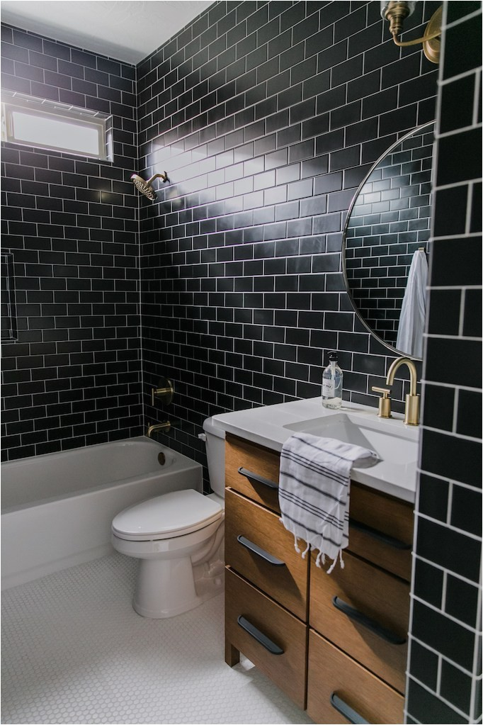 Bathroom Rugs Home Depot Black Tile Bathroom Styling with the Home Depot Becki Owens