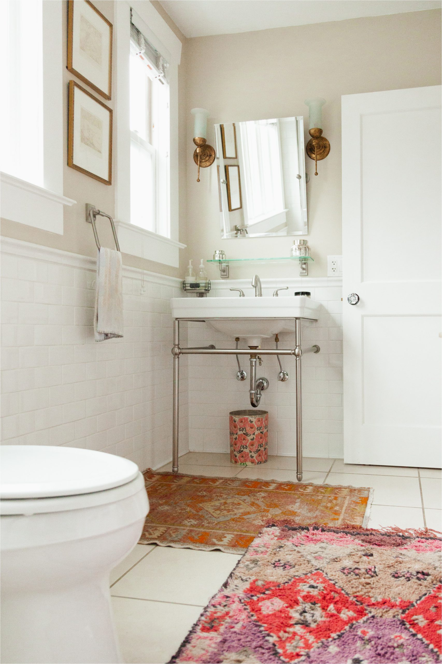 Best area Rugs for Bathrooms Look We Love Using Real Rugs In the Bathroom