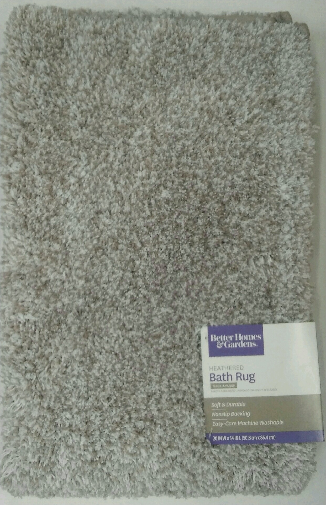 Better Homes and Gardens Noodle Memory Foam Bath Rug Better Homes and Gardens Thick and Plush Bath Rug 20 X 34 Taupe Splash Heather