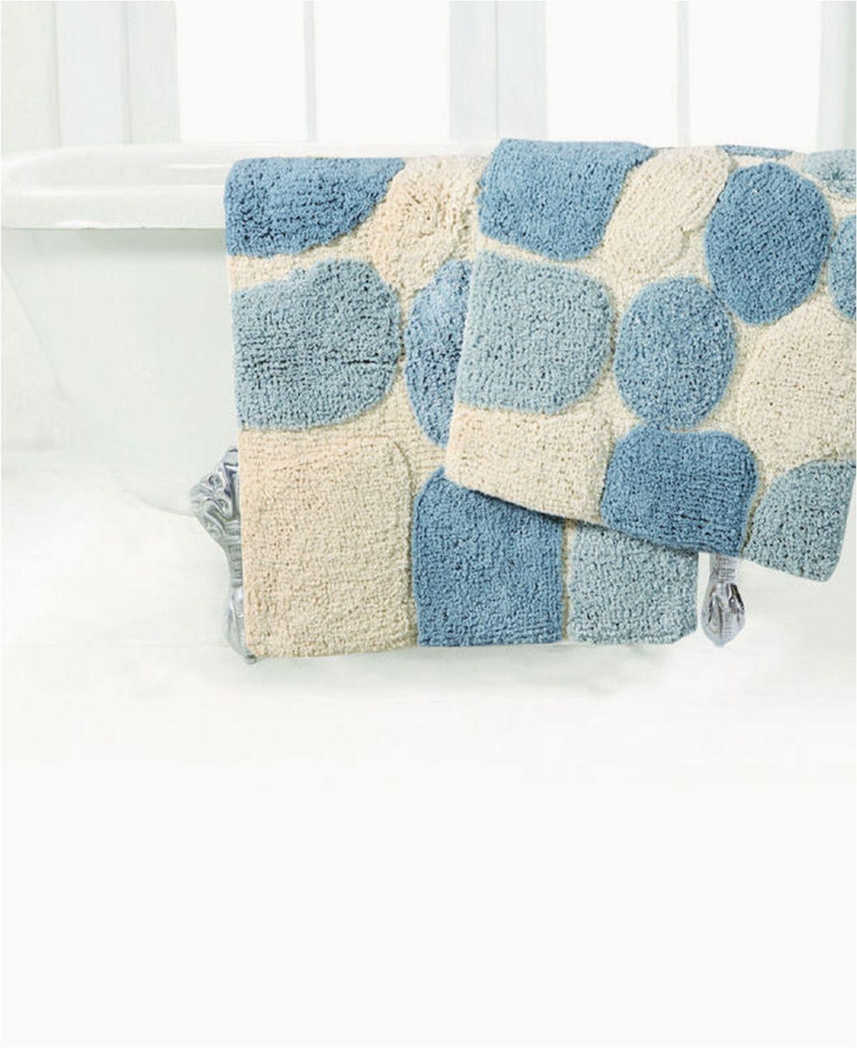 Big Lots Bathroom Rug Sets Plush Pebble Pattern Bath Rug Aquamarine