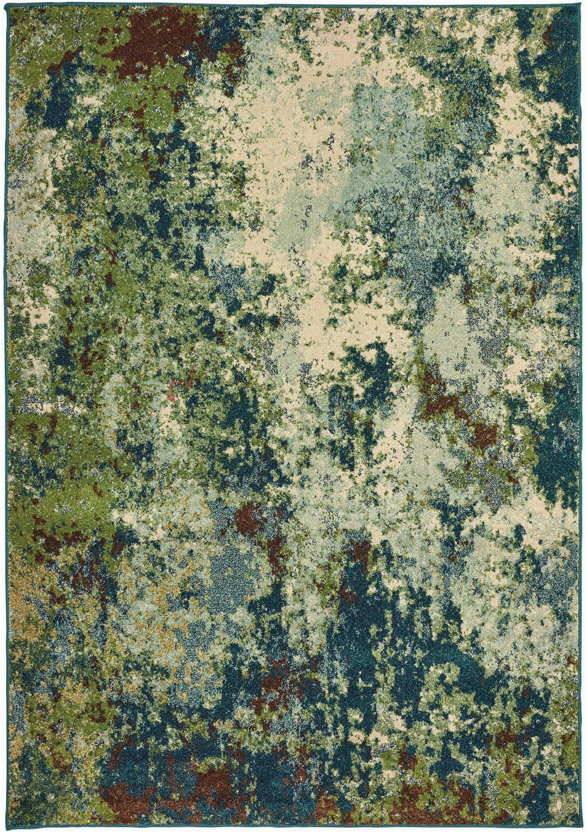 Blue Green oriental Rug oriental Weavers Dawson 8021b Blue Green area Rug