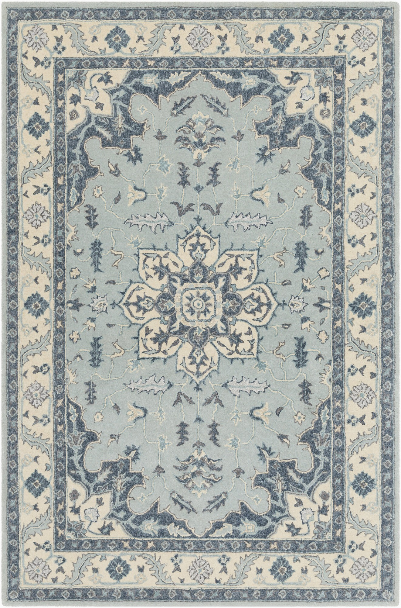 Blue Green oriental Rug Thynes oriental Handmade Tufted Wool Blue Green area Rug