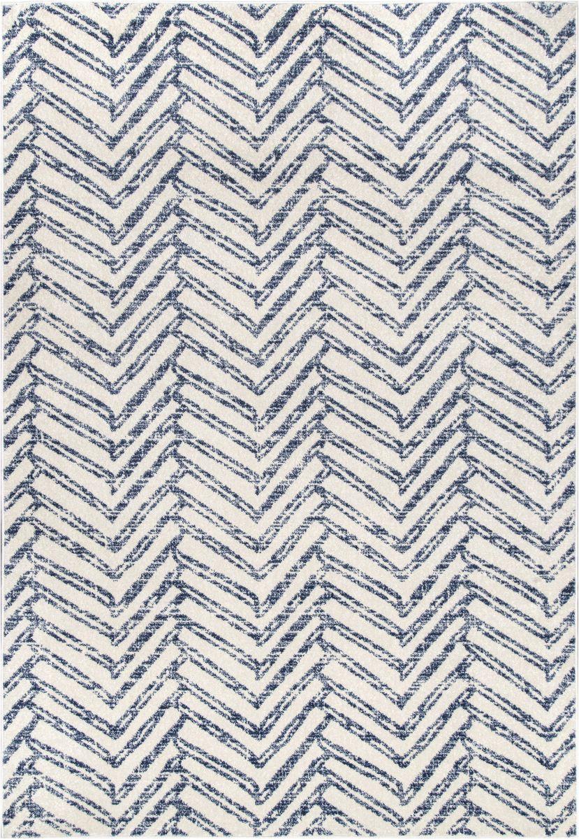 Blue Reverse Herringbone Rug Bosphorus Reverse Herringbone Blue Rug In 2020