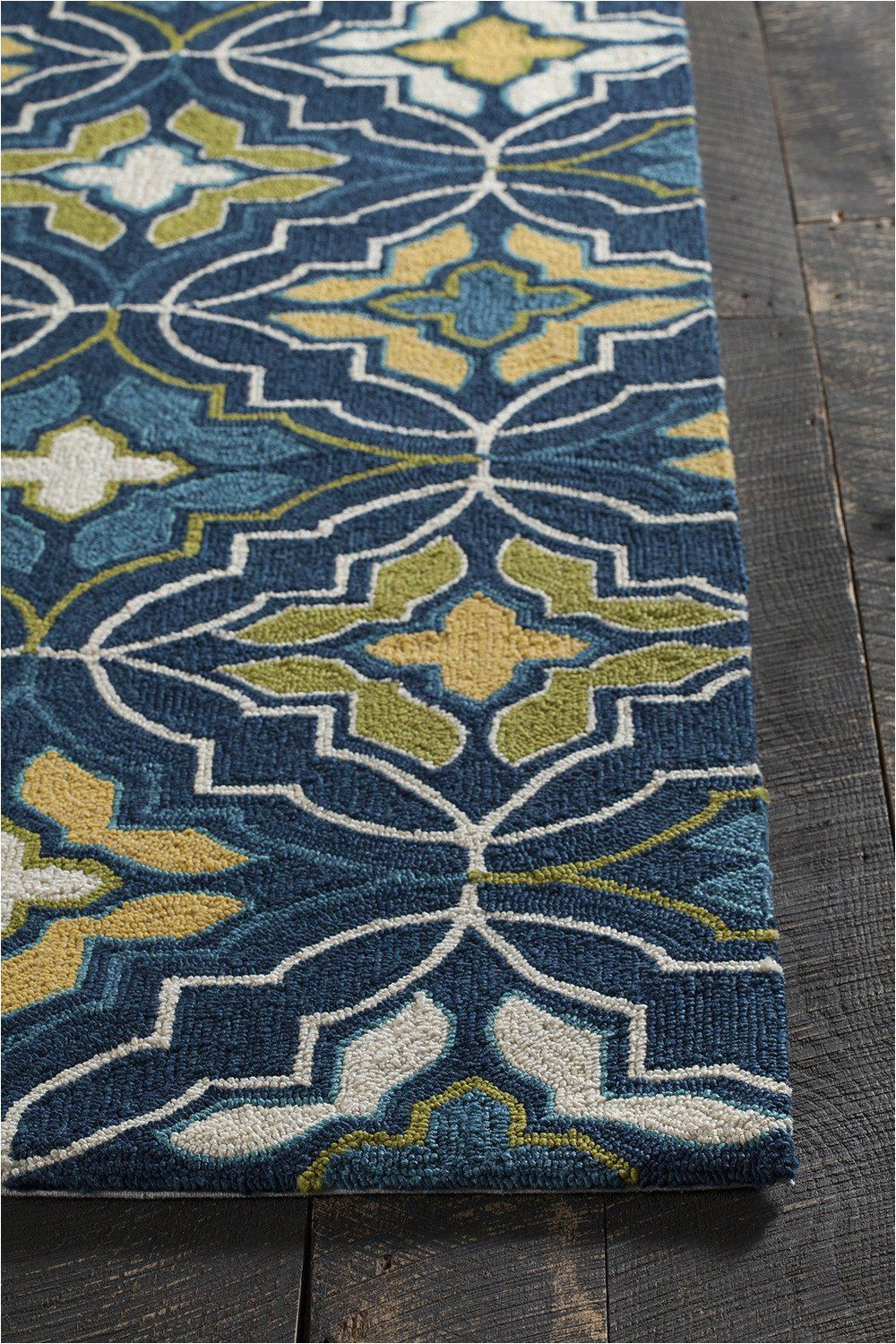 Kujawa Blue area Rug Yellow and Gray at Rug Studio Pertaining to Blue area Rugs