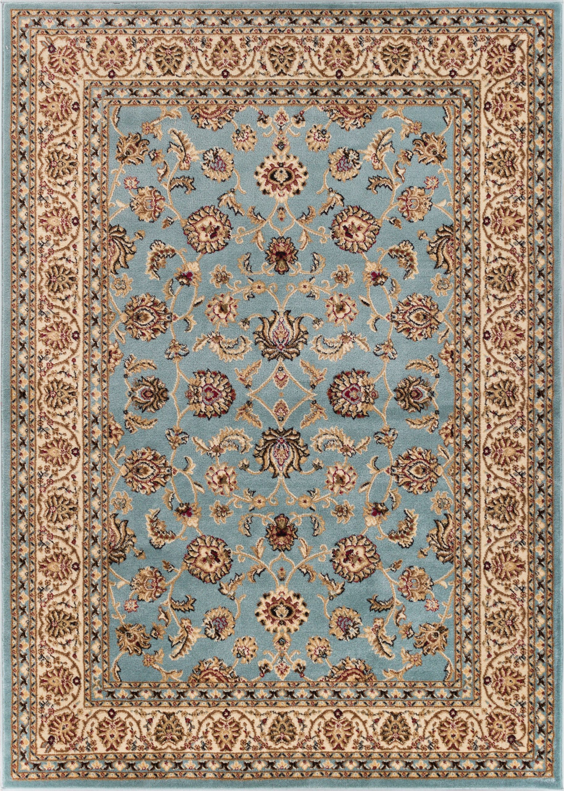 Light Blue Persian Rug Noble Sarouk Light Blue Persian Floral oriental formal Traditional area Rug
