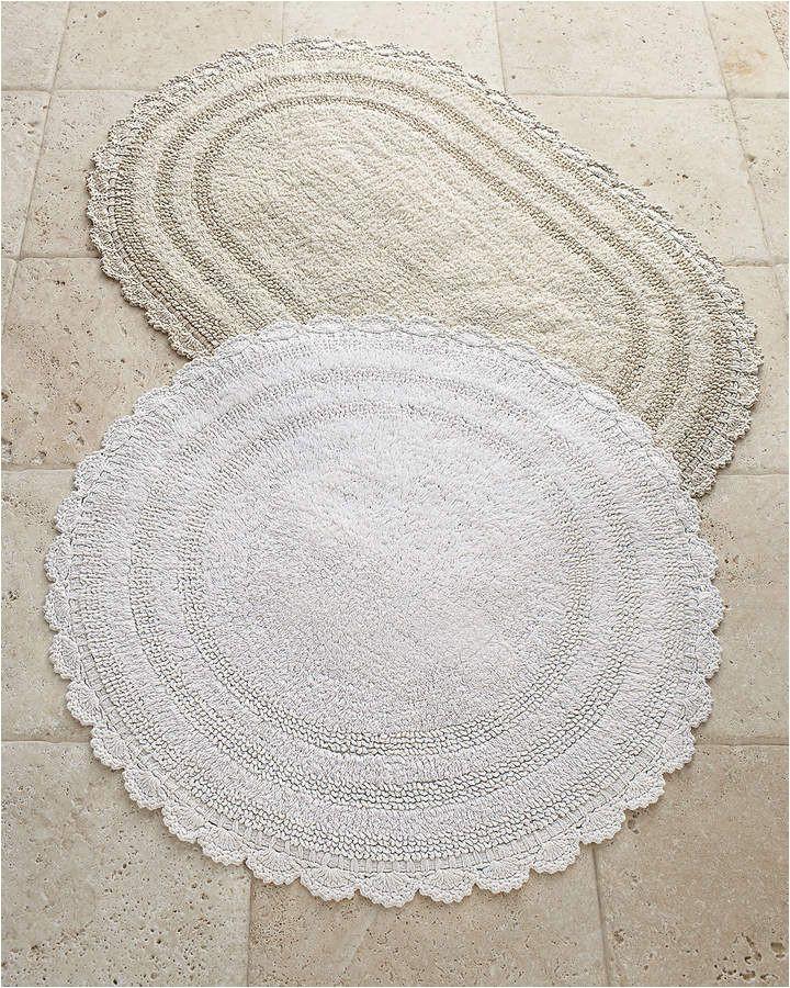 Oval Bathroom Rugs and Mats Cobra Trading Crochet Border Bath Rugs