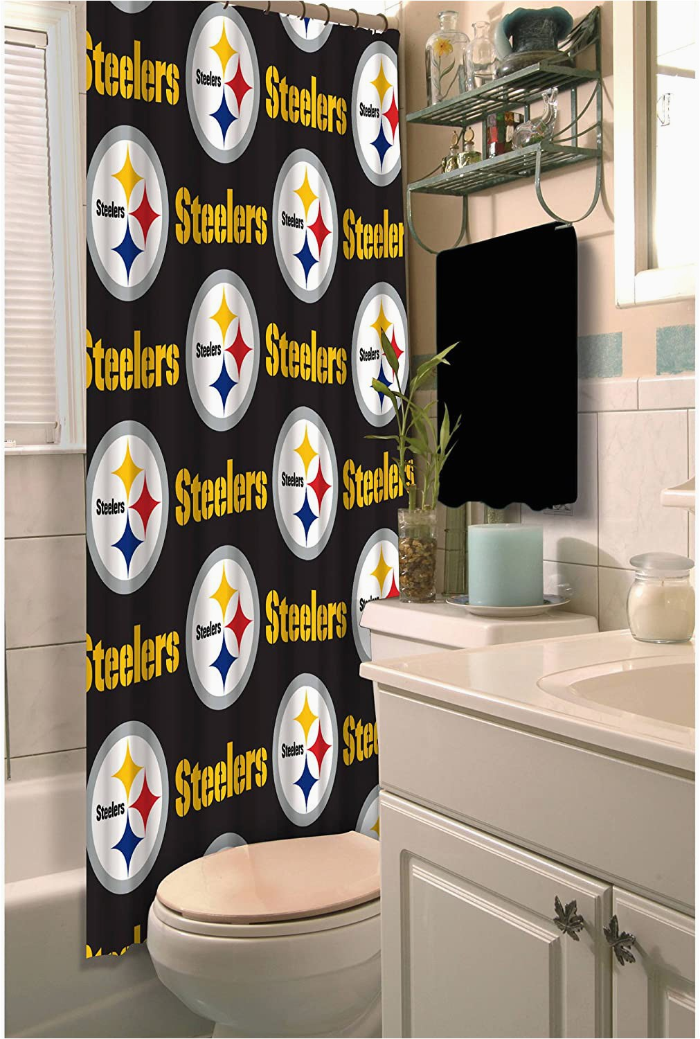 Pittsburgh Steelers Bathroom Rugs Nfl Pittsburgh Steelers Decorative Bath Collection Shower Curtain