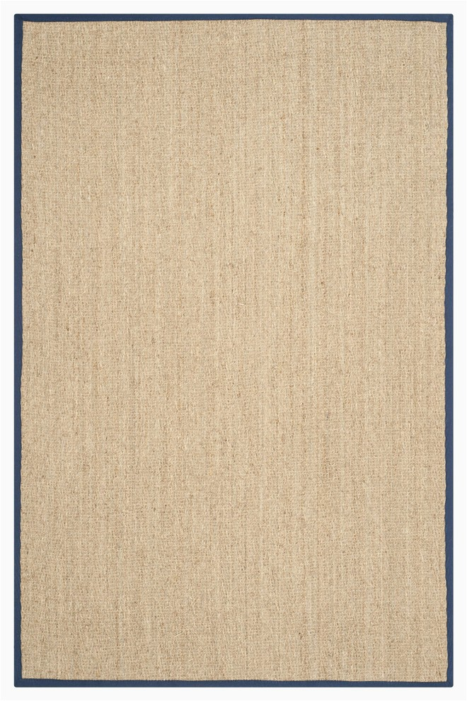 Sisal Rug with Blue Border Winifred Natural Fibre area Rug with Blue Border Rustic