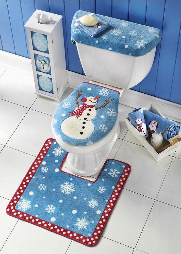 Toilet Seat Cover and Rug Bathroom Set Amazon Bathroom toilet Seat Cover and Rug Set Multi