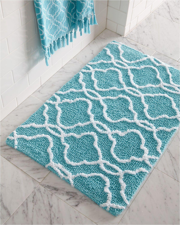 Turquoise Bathroom Rugs and towels Dena Home Tangiers Bath Rug