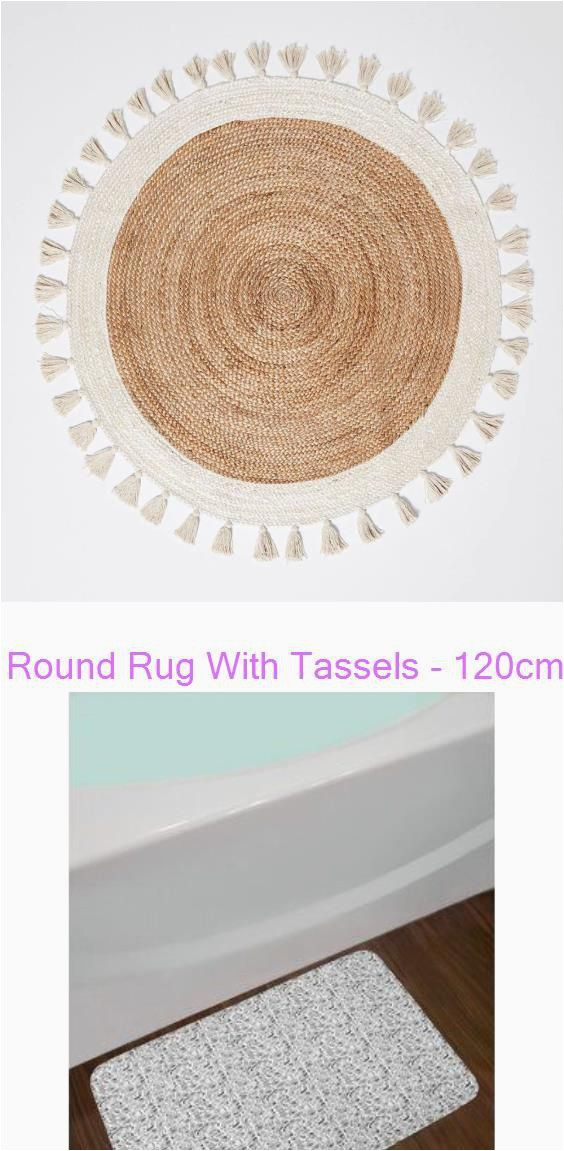 Wayfair Round Bathroom Rugs Round Rug with Tassels 120cm Bed Bath