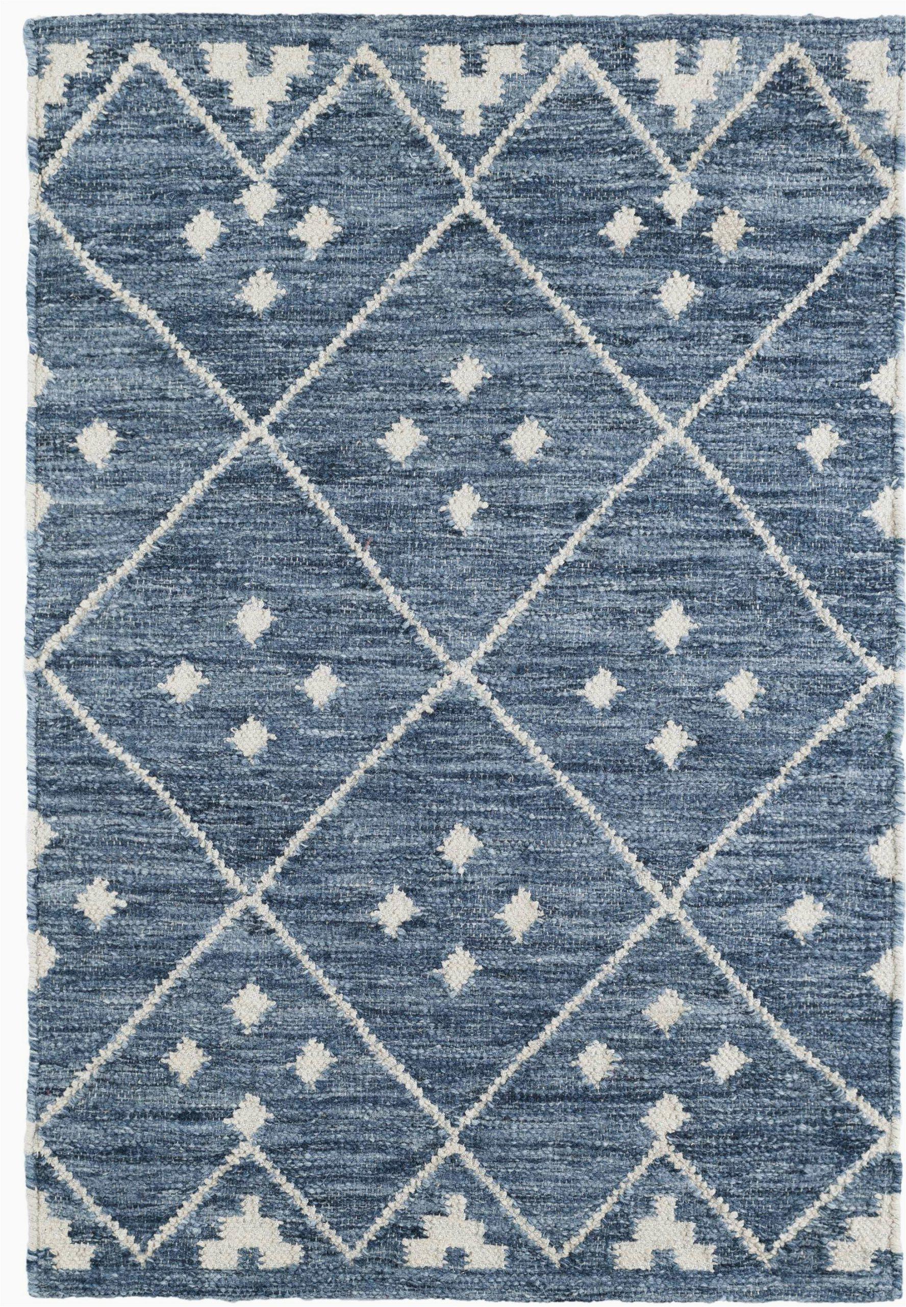 Wayfair Rugs Blue and White Kota Geometric Handmade Kilim Blue White area Rug