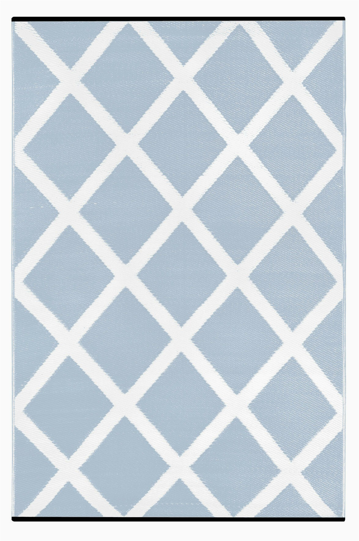 Wayfair Rugs Blue and White Lightweight Reversible Diamond Light Blue White Indoor Outdoor area Rug