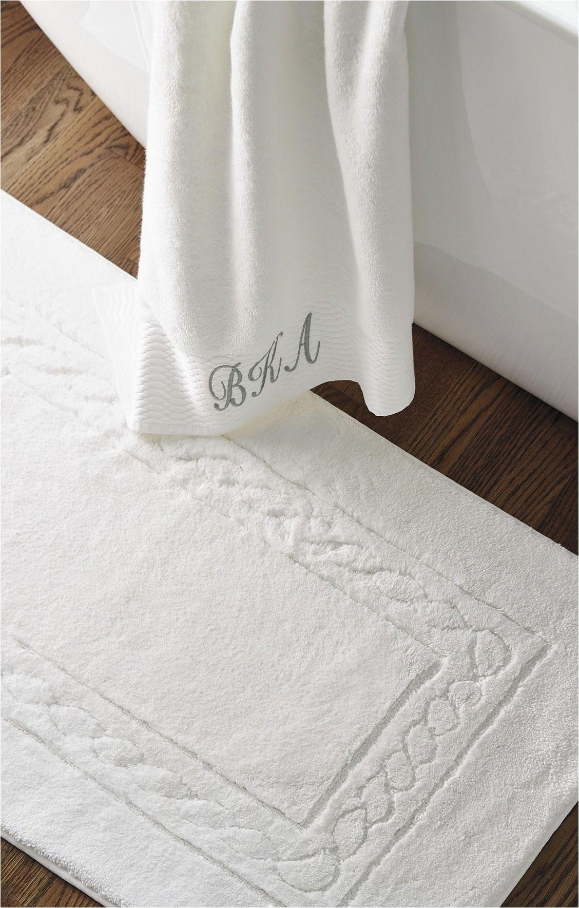 White Cotton Bathroom Rugs Egyptian Cotton Skid Resistant Bath Rug