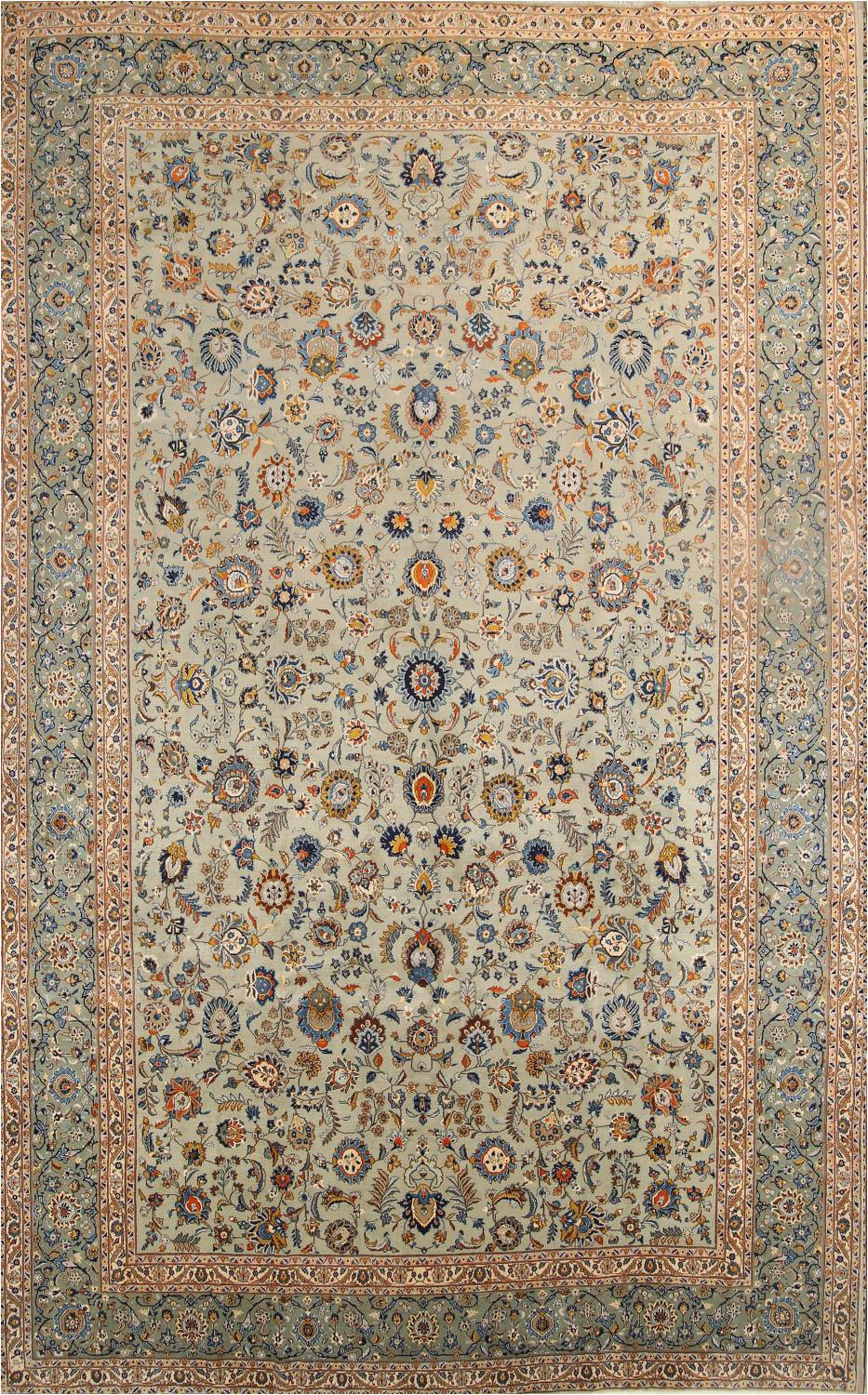 11 X 18 area Rug 11×18 Kashan Persian area Rug