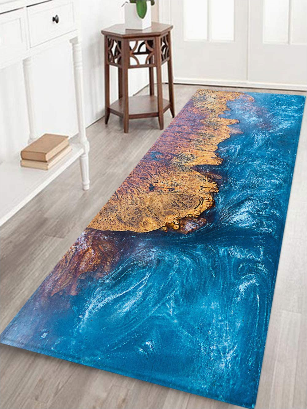 Bath Rugs with Rubber Backing Bathroom Rug Non Slip Flannel Microfiber Bath Mat area Rug with Water Resistant Rubber Back Anti Slip for Kitchen and Bathroom